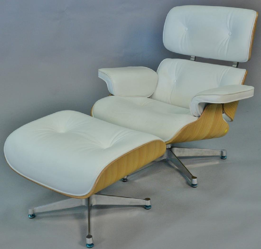 Eames style chair and ottoman.