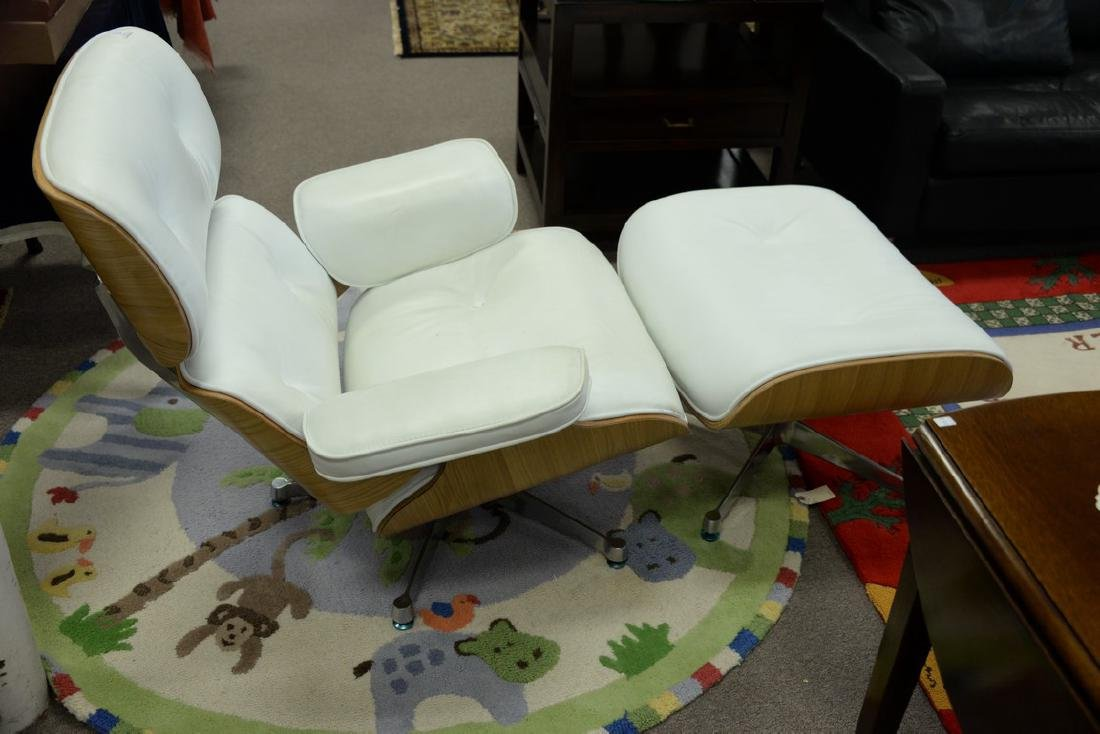 Eames style chair and ottoman. - 2
