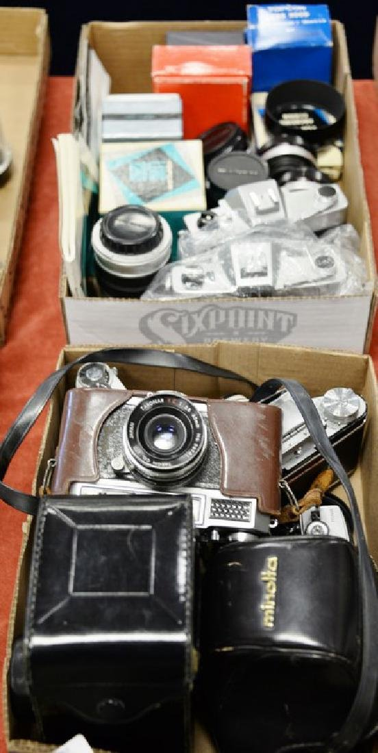 Two box lots: Camera lot to include (2) Bessler Auto