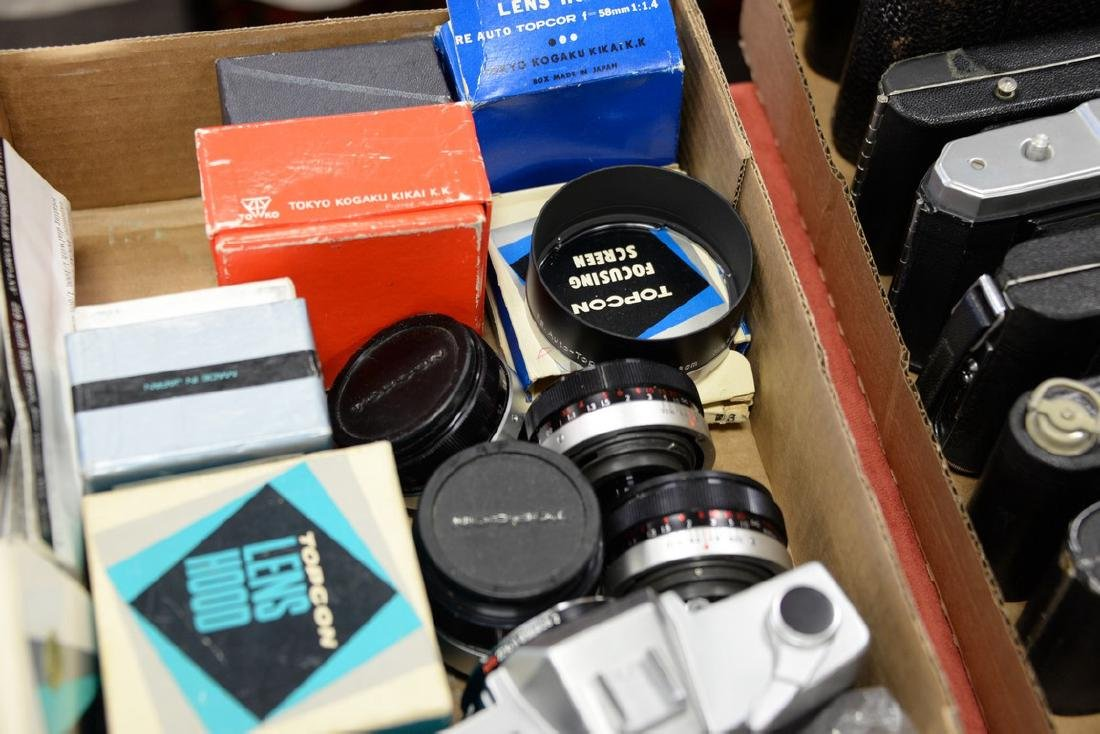Two box lots: Camera lot to include (2) Bessler Auto - 4