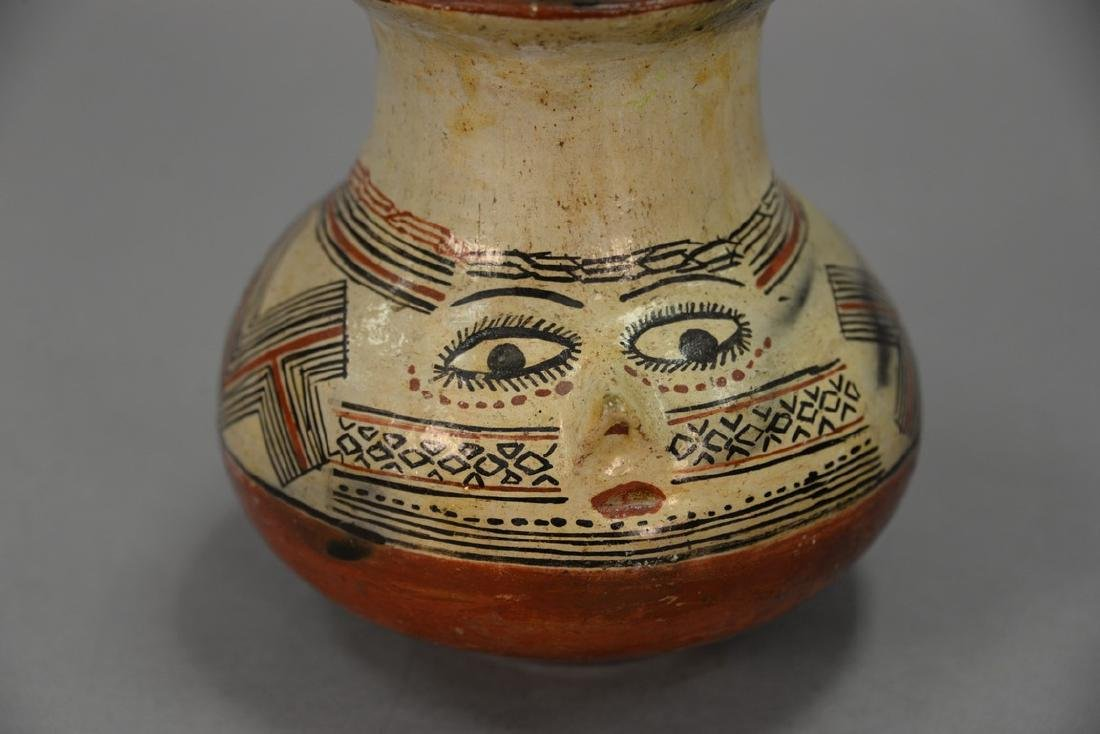 Indian pottery vase, possibly Shipibo polychrome with a - 2