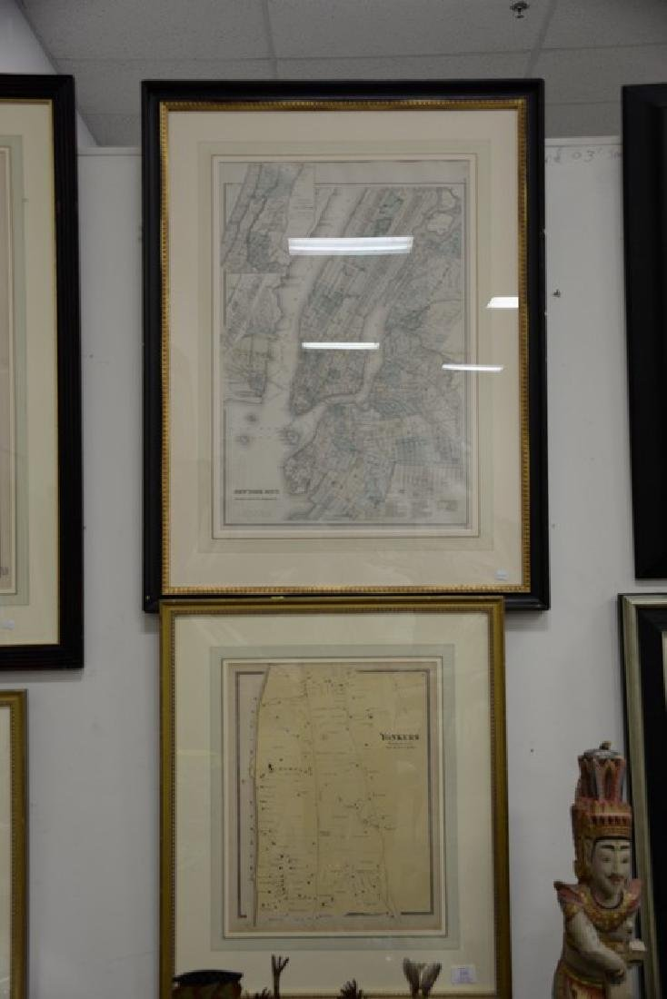 Four New York maps including hand colored lithograph - 2