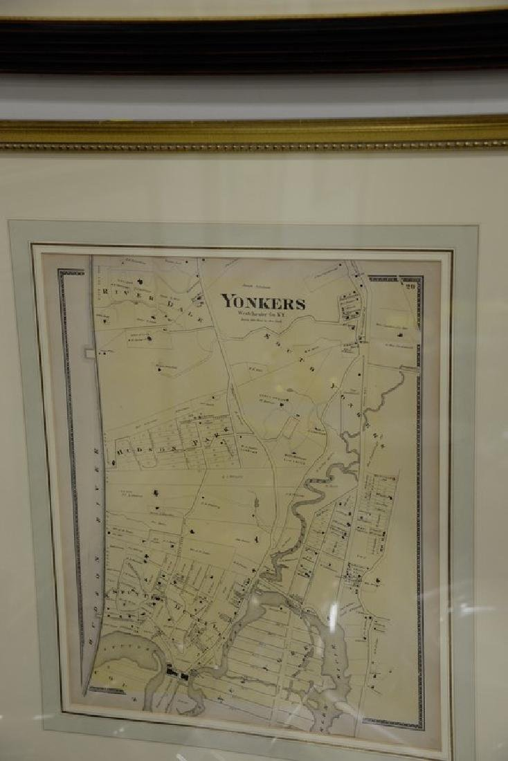 Four New York maps including hand colored lithograph - 3