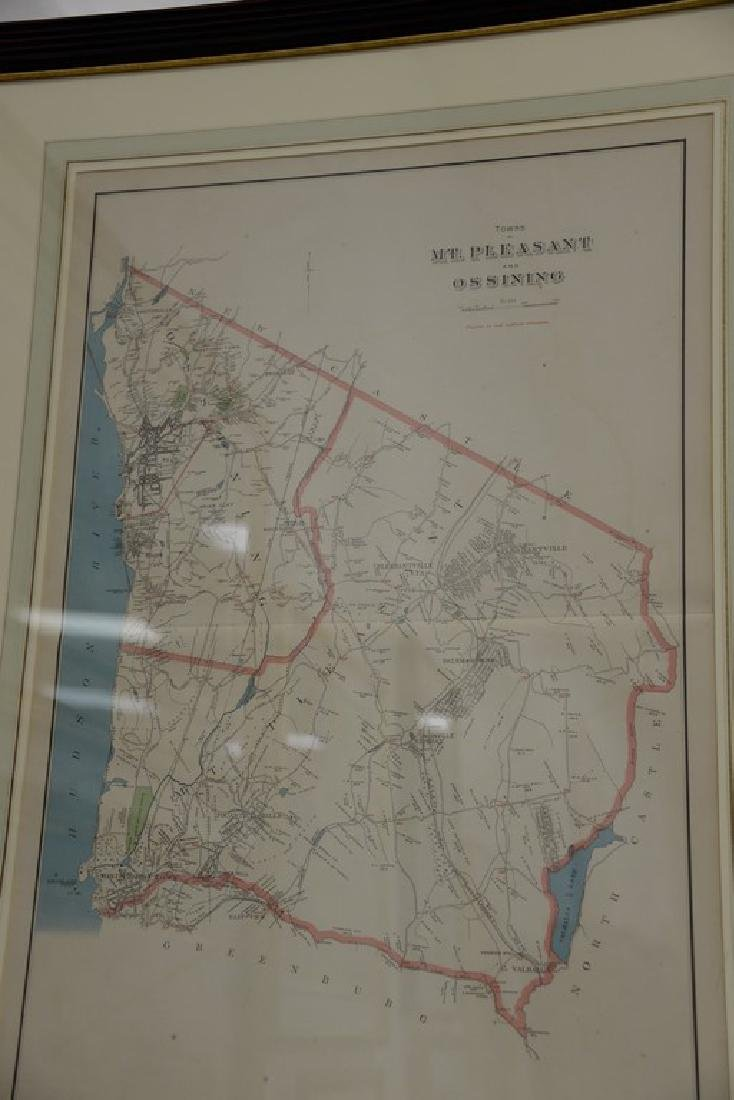 Four New York maps including hand colored lithograph - 4