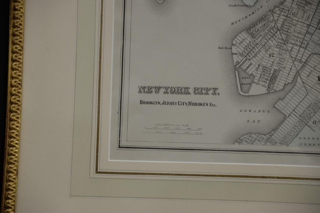 Four New York maps including hand colored lithograph - 6