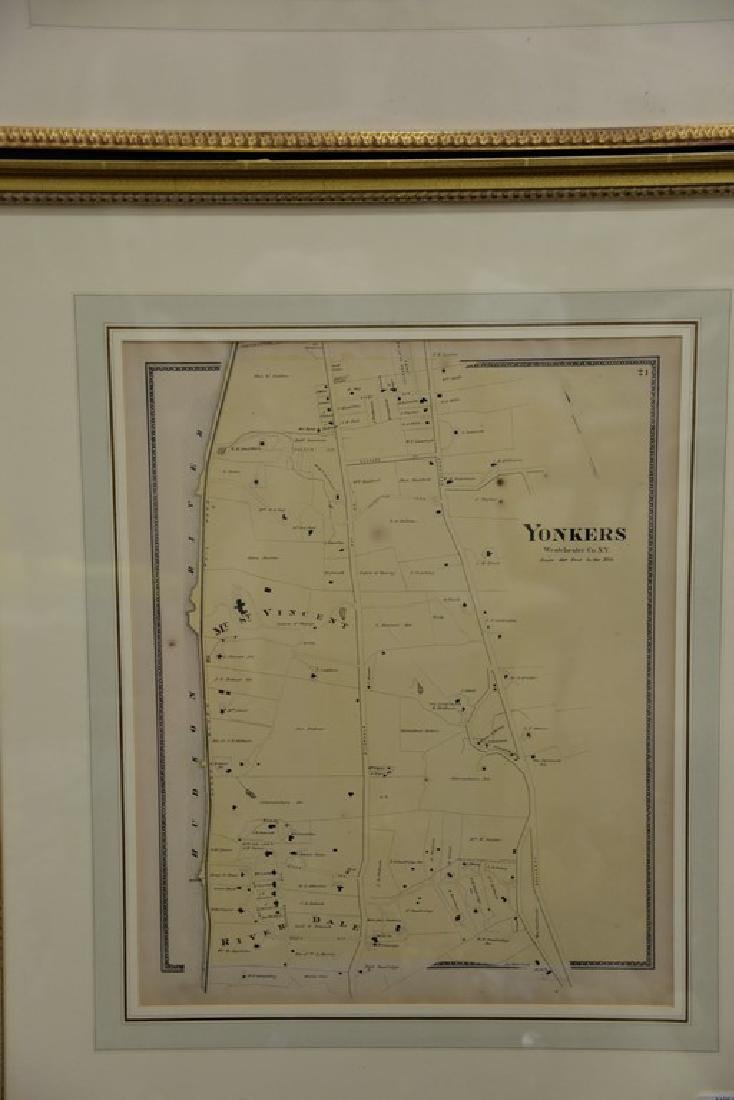 Four New York maps including hand colored lithograph - 7