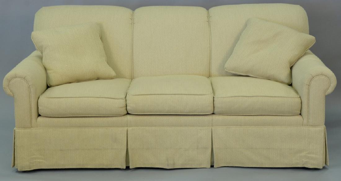 Kittinger upholstered sofa. wd. 74in.