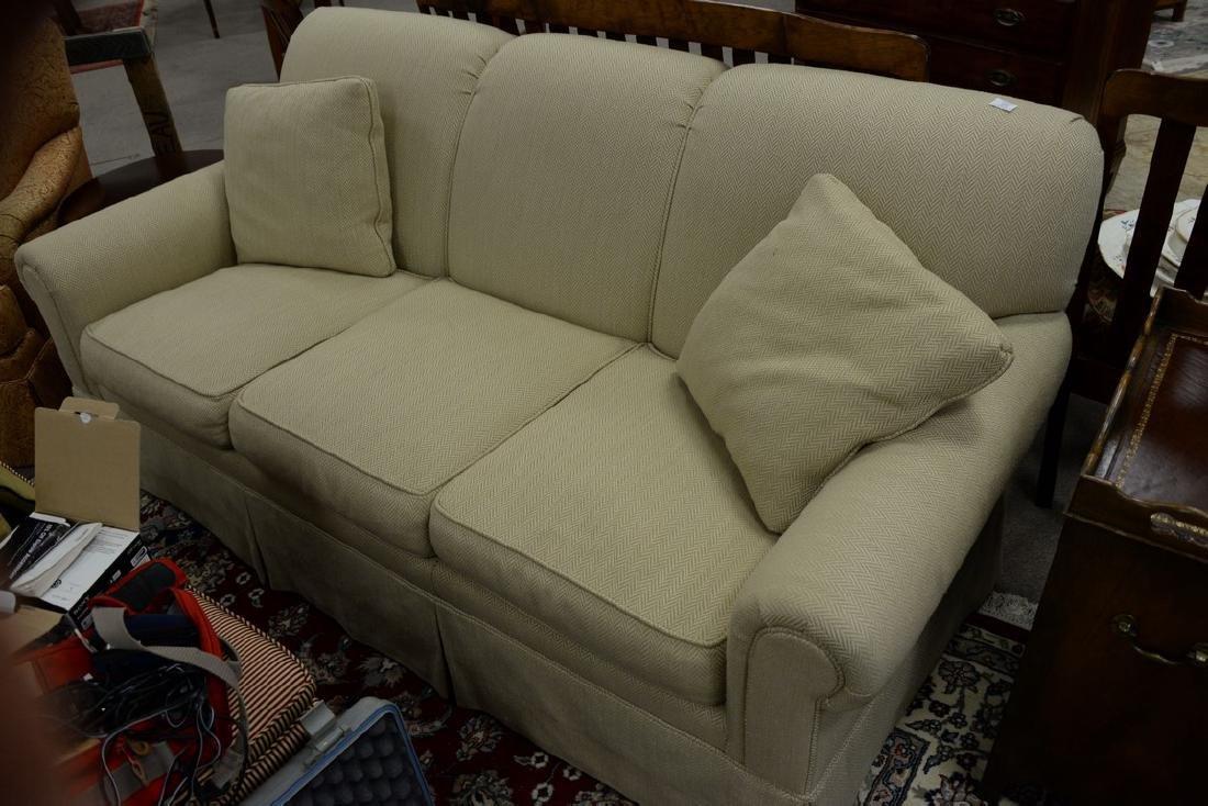 Kittinger upholstered sofa. wd. 74in. - 3