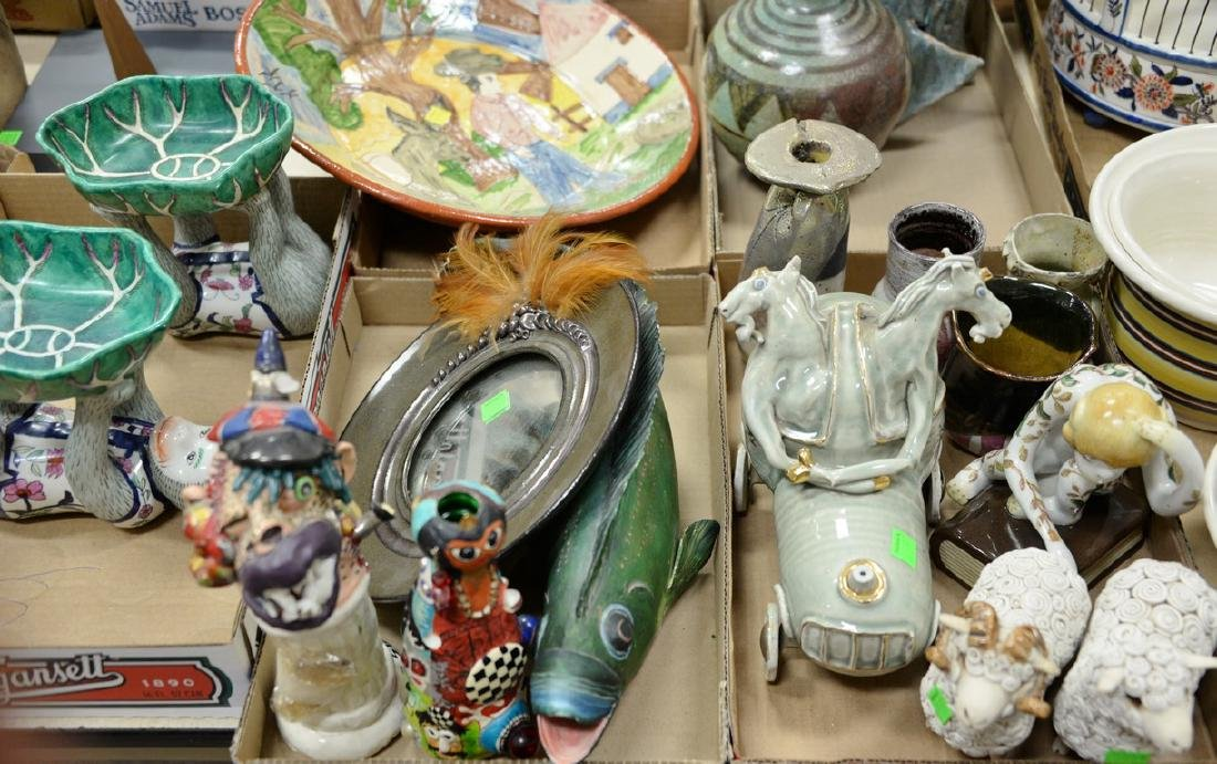 Five tray lots of ceramic and porcelain items to