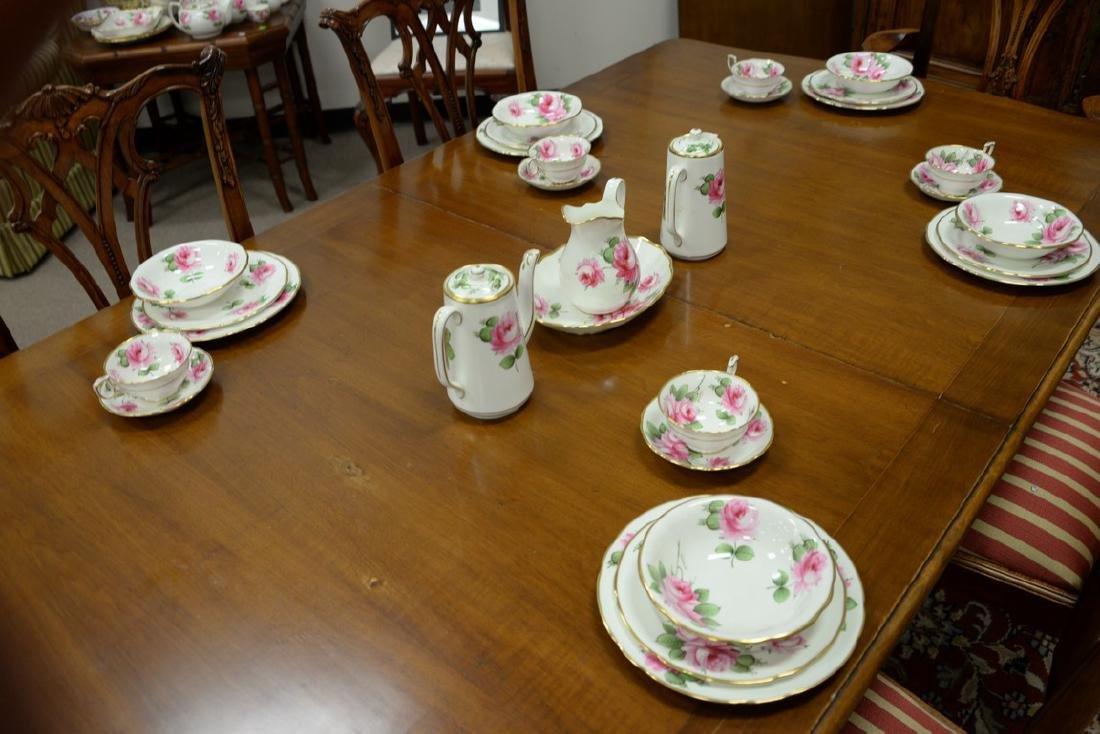 Hammersley & Co. rose china dinnerware set, 103 total - 2