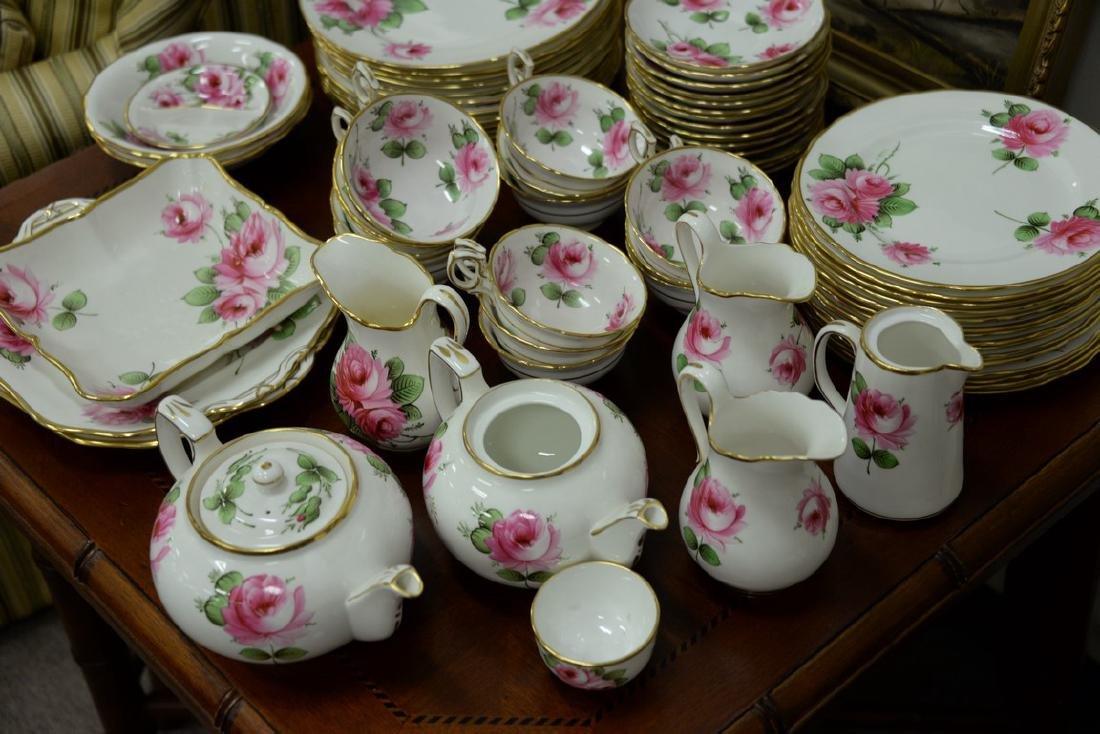 Hammersley & Co. rose china dinnerware set, 103 total - 3