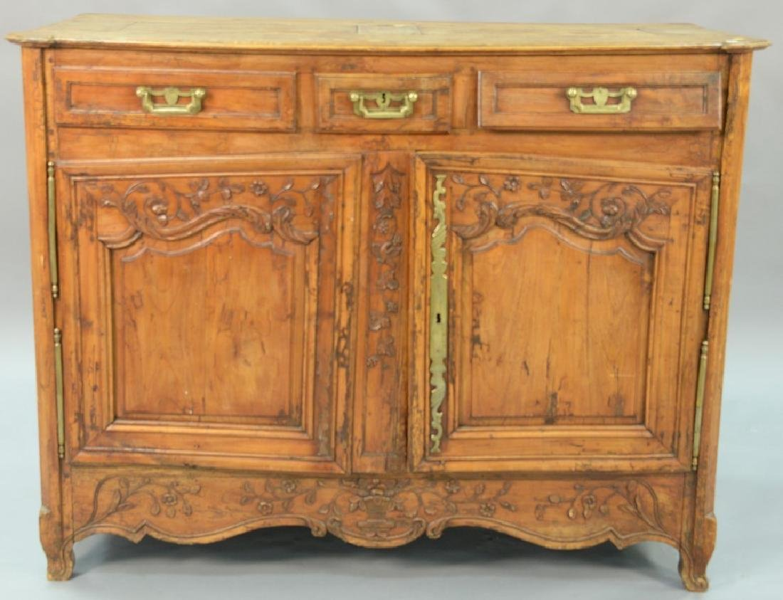 Louis XV sideboard, 18th century. ht. 44in., wd. 55in.,