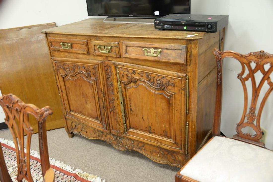 Louis XV sideboard, 18th century. ht. 44in., wd. 55in., - 2