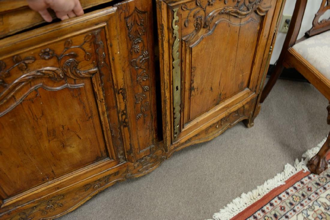 Louis XV sideboard, 18th century. ht. 44in., wd. 55in., - 4