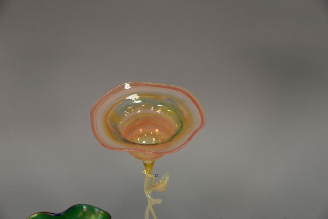 Three vases including Loetz art glass vase with ground - 2