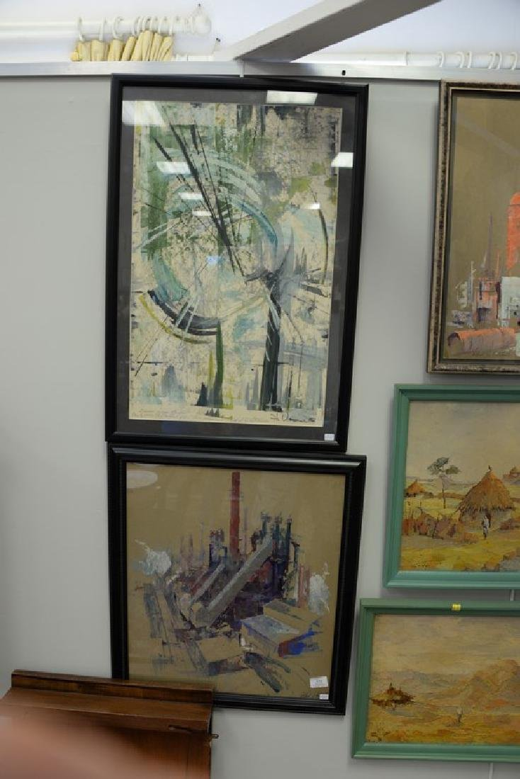 Seven framed paintings: five Alfred Vetromile mixed - 2