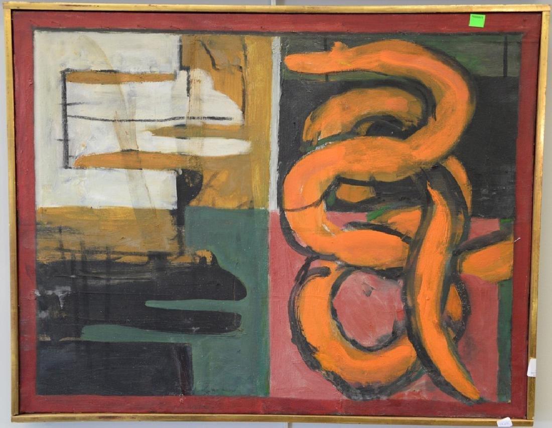 """Irving Kriesberg (1919-2009), oil on canvas, """"Orange"""