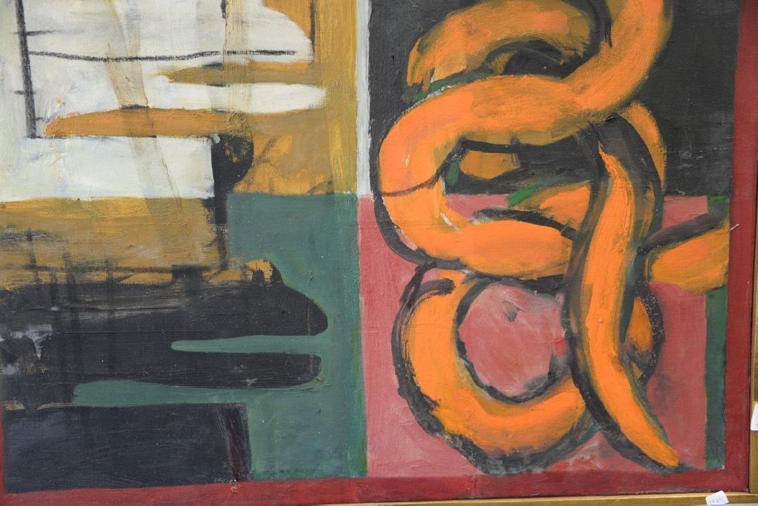 """Irving Kriesberg (1919-2009), oil on canvas, """"Orange - 2"""