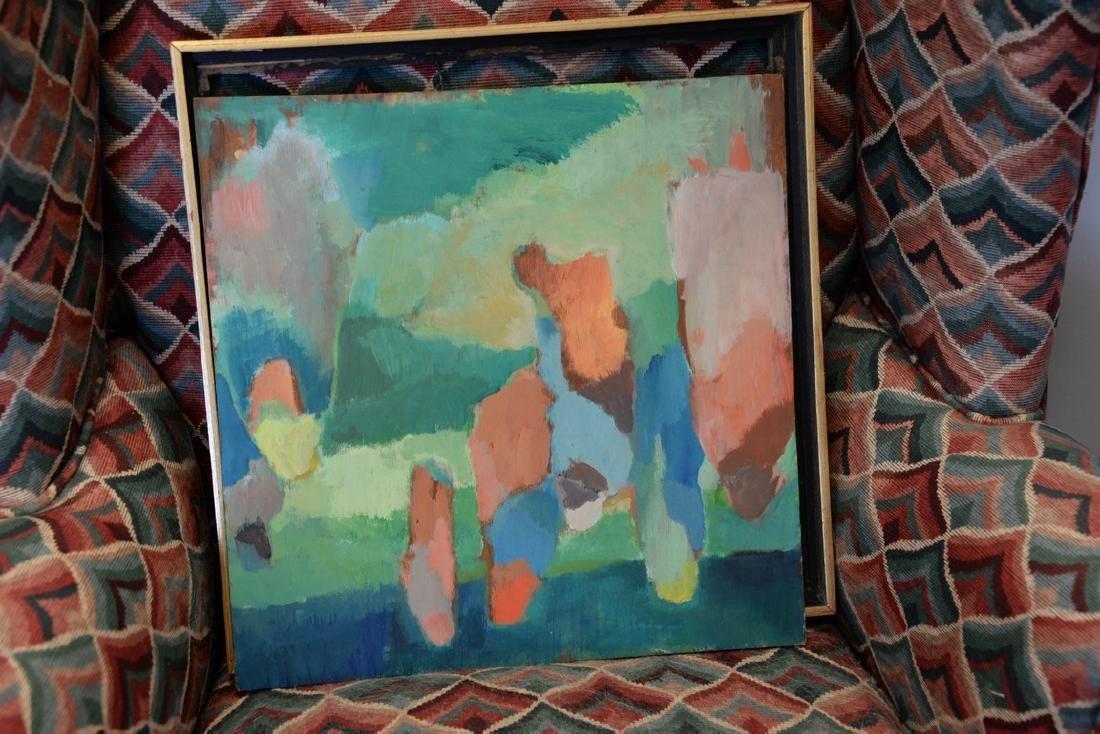 Three framed paintings including Irving Marantz - 3