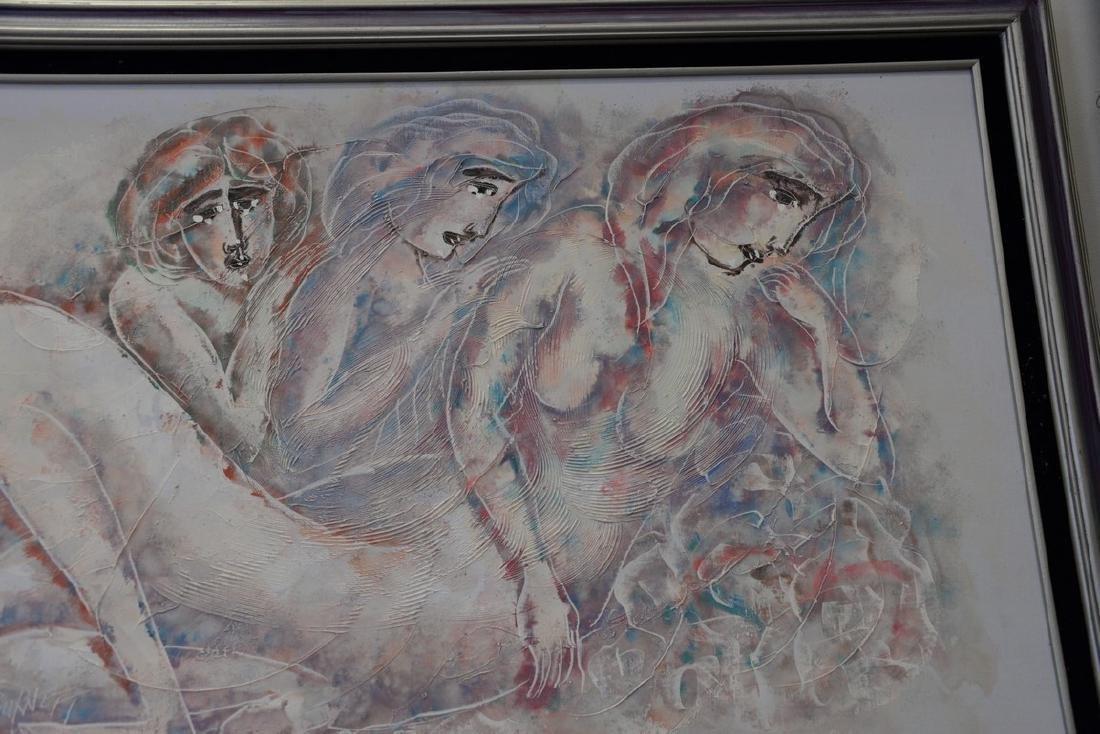 Calvin Waller Burnett (1921-2007), oil on canvas, Three - 3