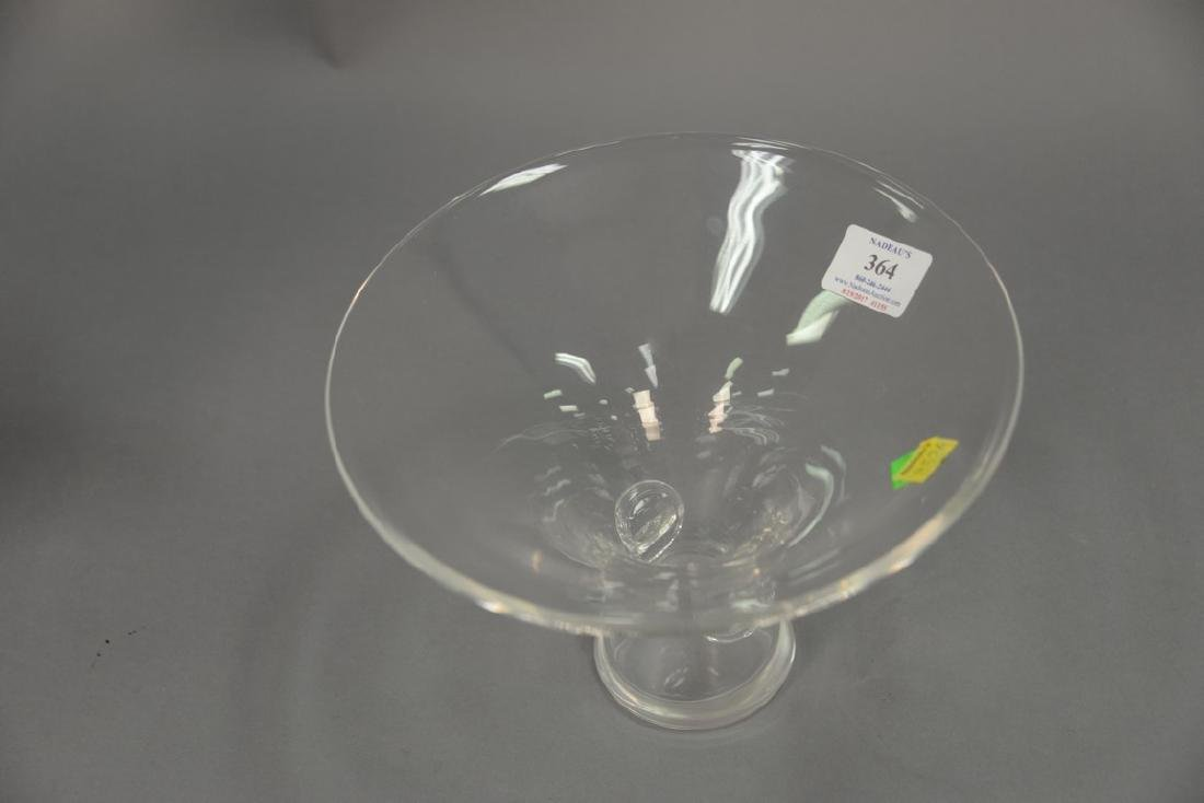 Large Steuben crystal center bowl. ht. 6 1/2in., dia. 9 - 3