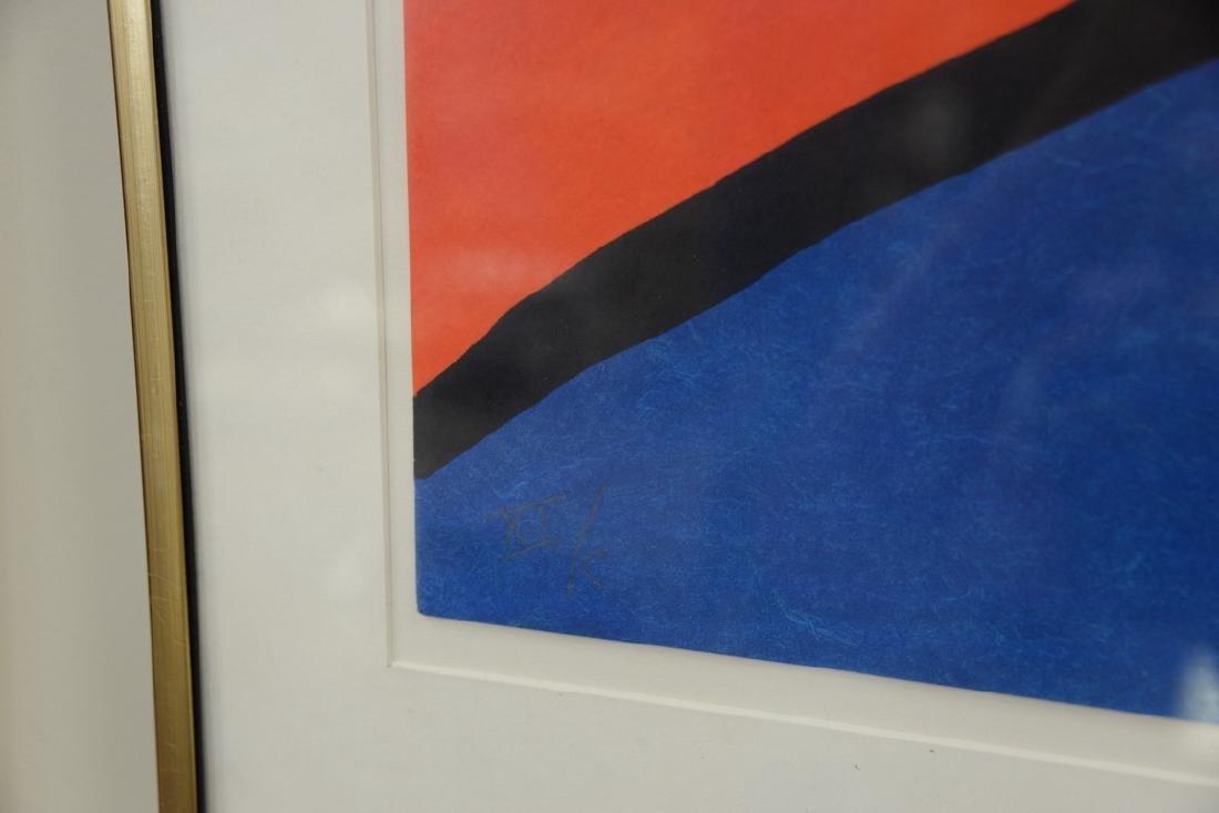 Alexander Calder, colored lithograph, Seahorse 1975, - 3