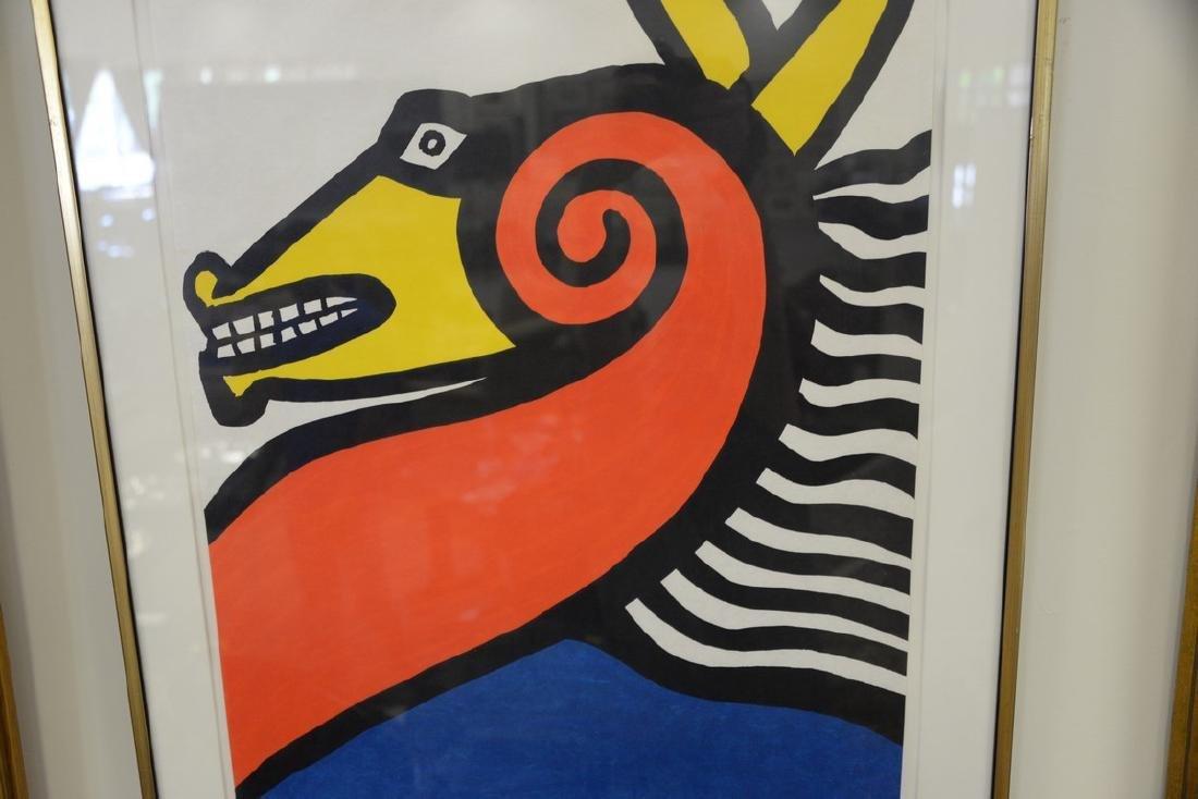 Alexander Calder, colored lithograph, Seahorse 1975, - 4