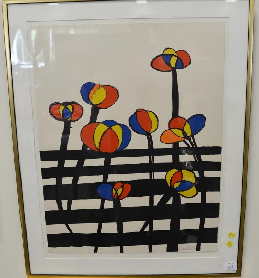 Alexander Calder (1898-1976), colored lithograph,
