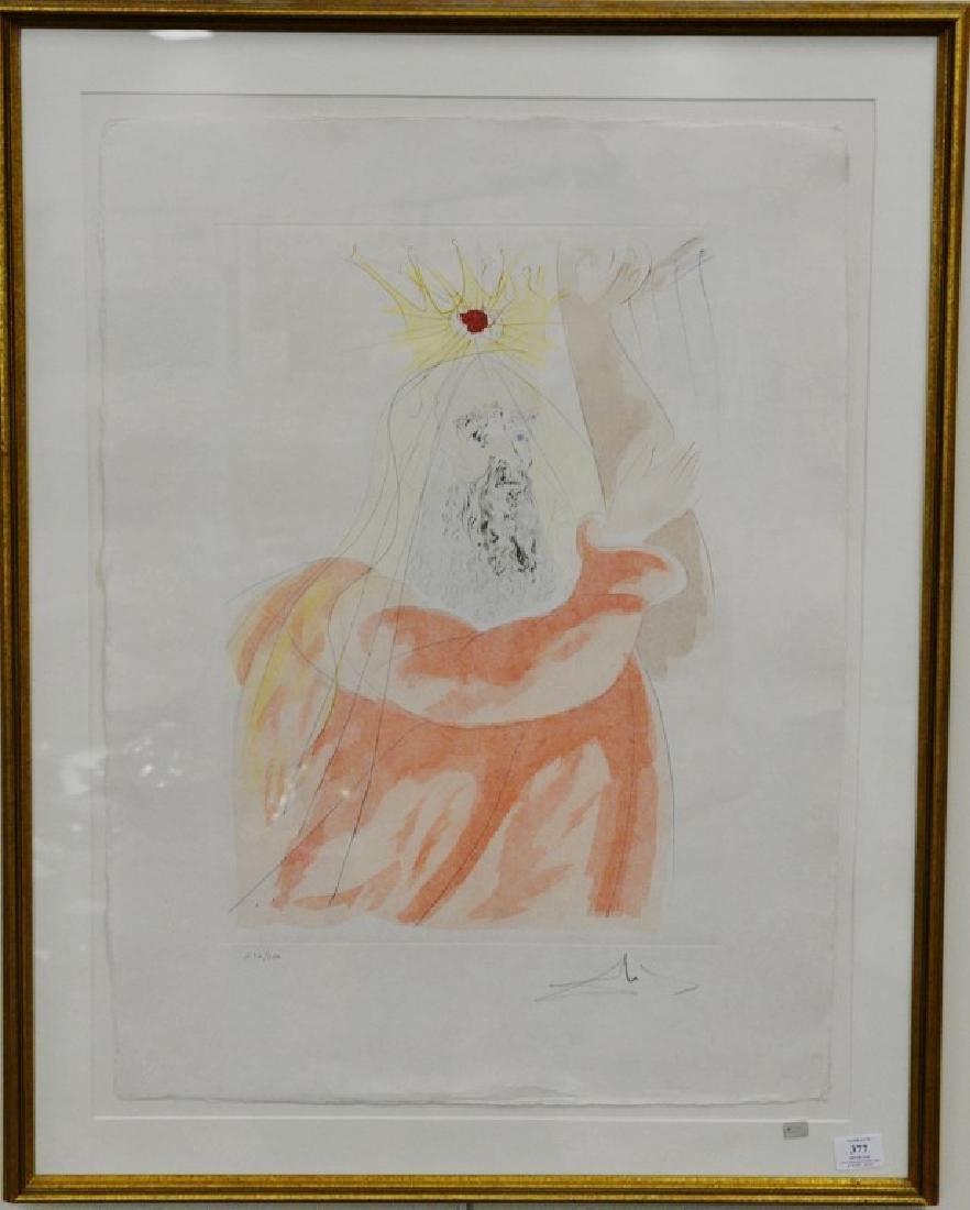 Salvador Dali (1904-1989), lithograph, King David from