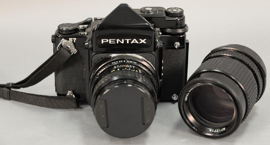 Two piece lot to include Pentax 67 outfit with 67 body,