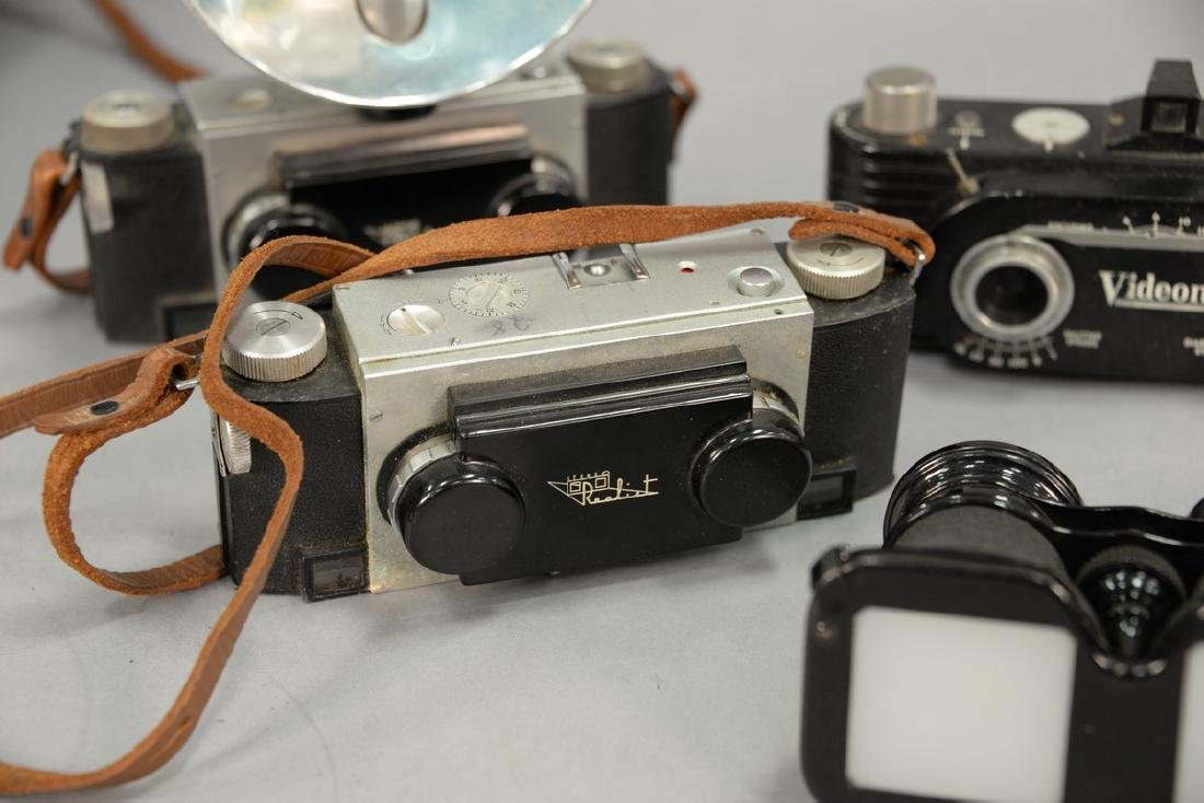 One box lot: Group lot of Stereo cameras and viewers - 3