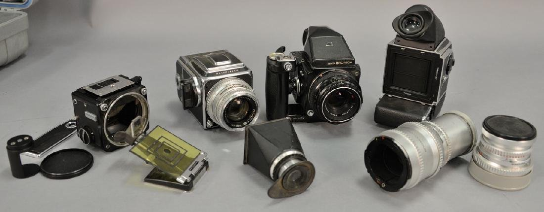 One box lot: Camera lot to include Hasselblad 500c with
