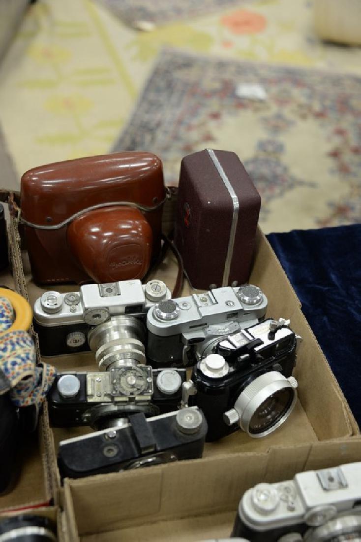 Six box lots: Camera and darkroom equipment lot to - 5