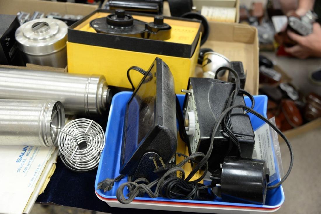 Six box lots: Camera and darkroom equipment lot to - 7