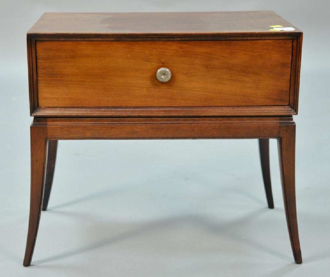 Tommi Parzinger chest on stand with sabre legs. ht. 21,