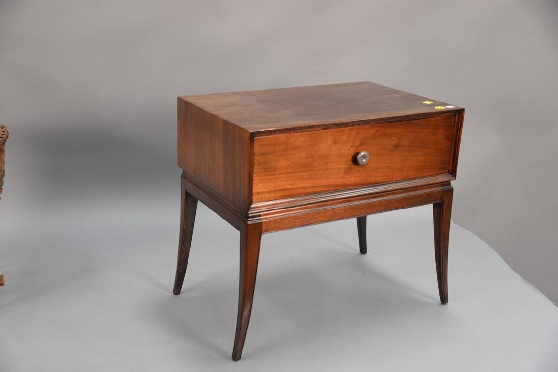Tommi Parzinger chest on stand with sabre legs. ht. 21, - 2