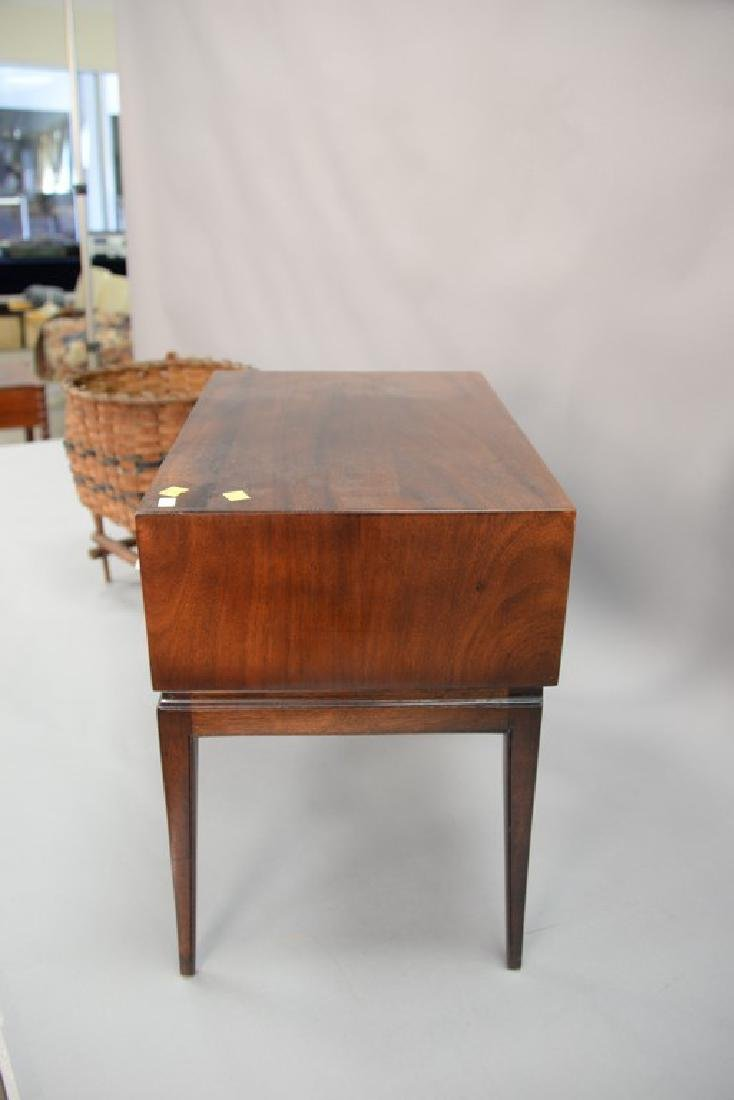 Tommi Parzinger chest on stand with sabre legs. ht. 21, - 3