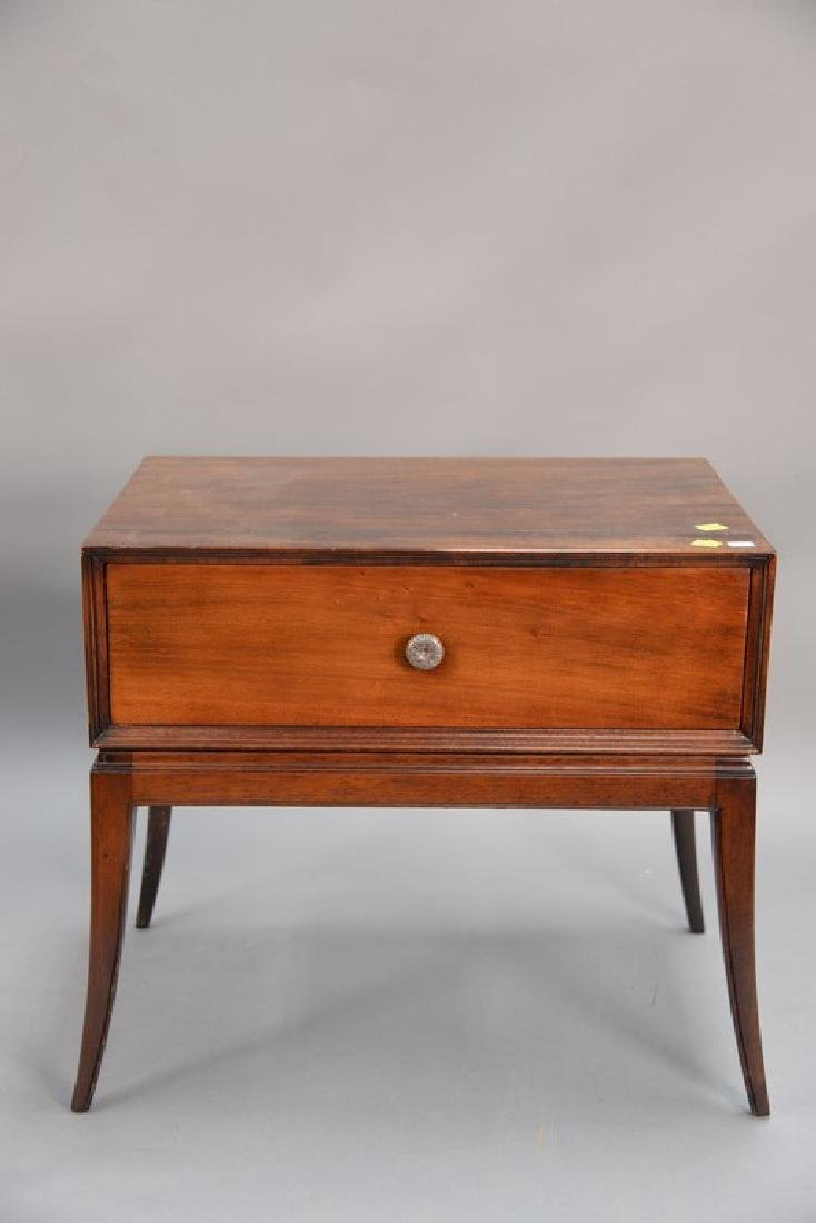 Tommi Parzinger chest on stand with sabre legs. ht. 21, - 5