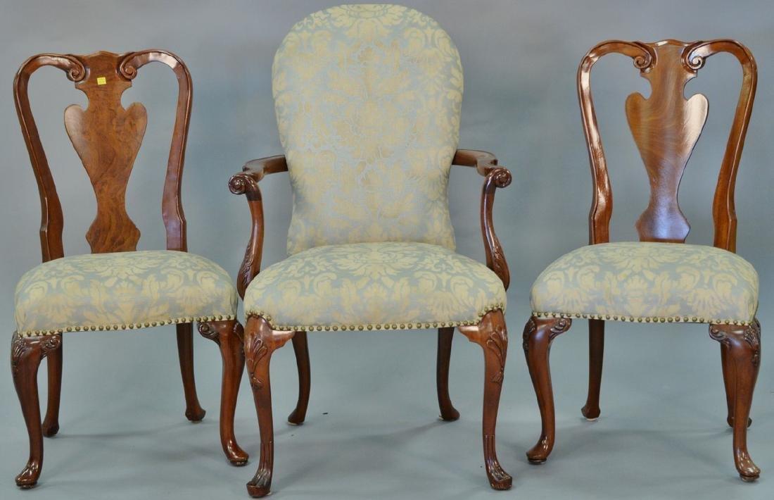 Set of ten John Widdicomb Georgian style dining chairs