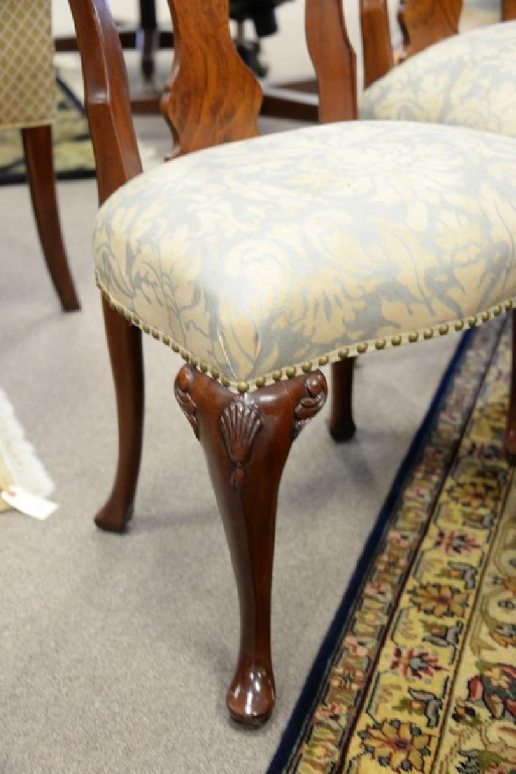 Set of ten John Widdicomb Georgian style dining chairs - 4