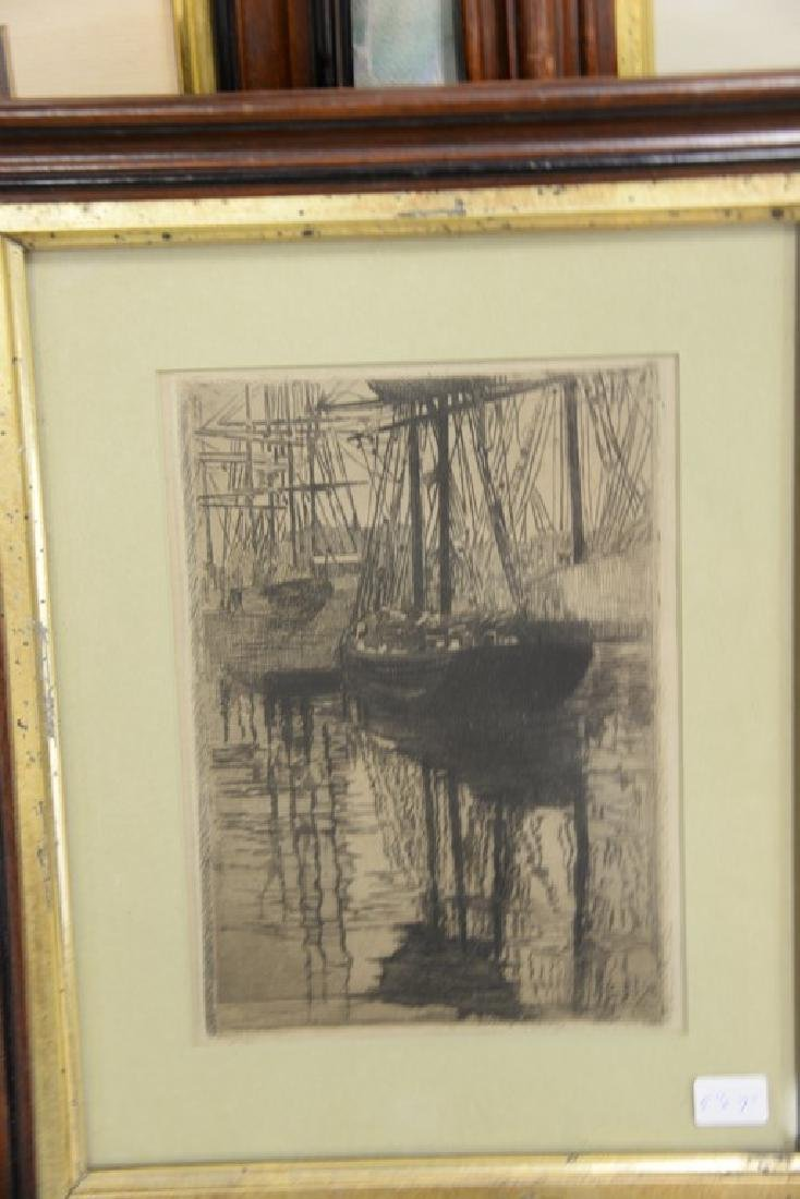 Seven framed prints and etchings including print after - 4