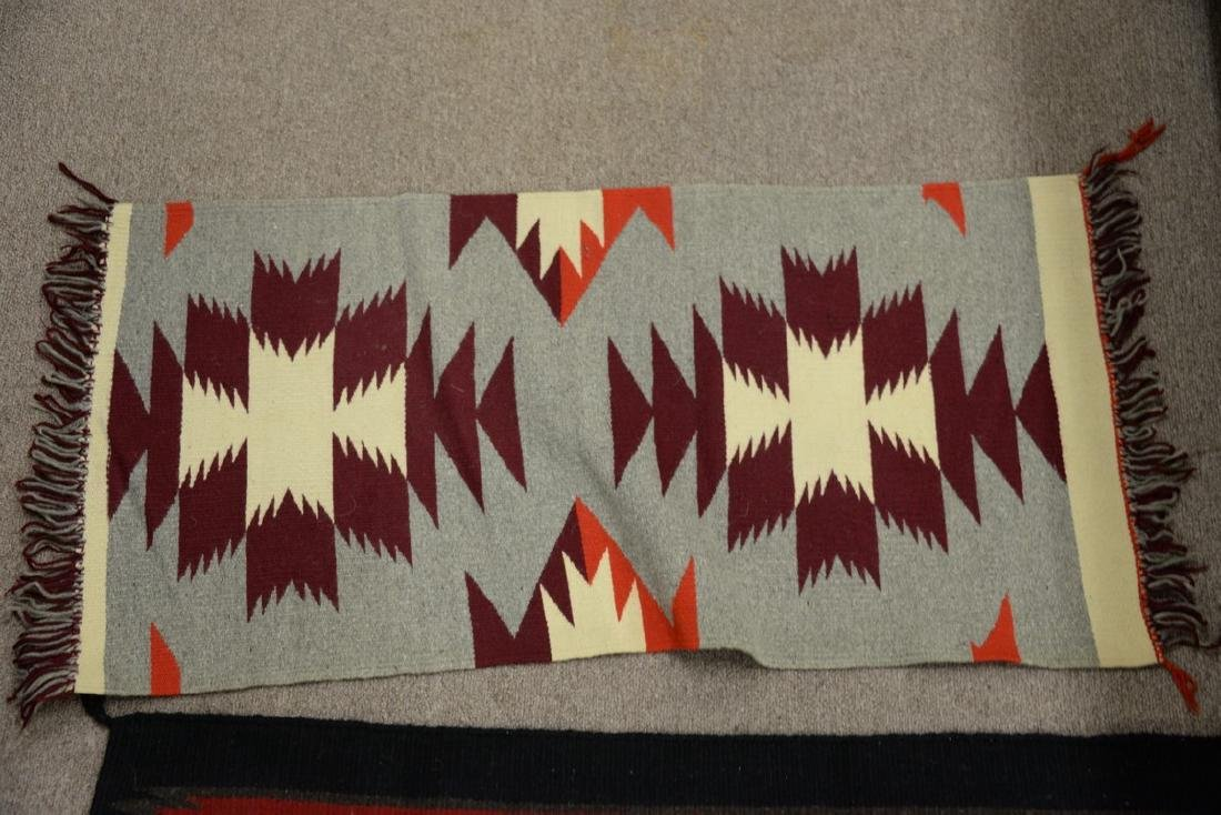 """Group of four American Indian blankets. 17 1/2"""" x 36"""" - 10"""