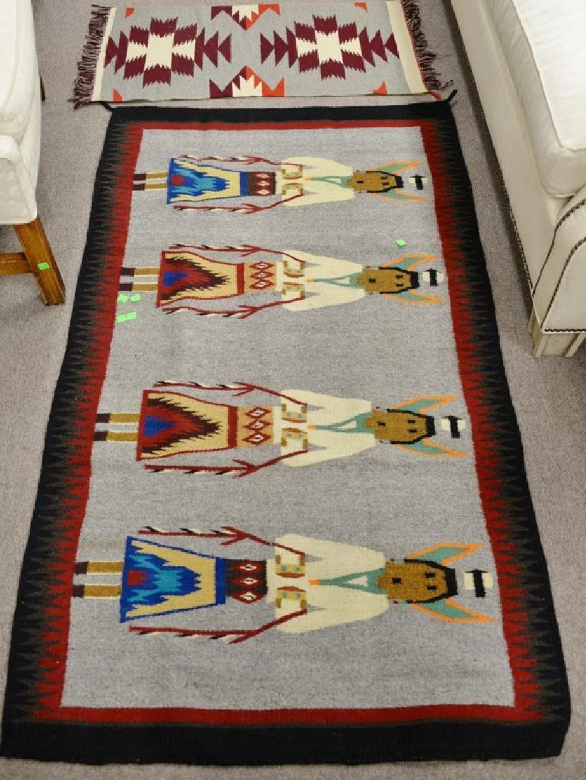 """Group of four American Indian blankets. 17 1/2"""" x 36"""""""