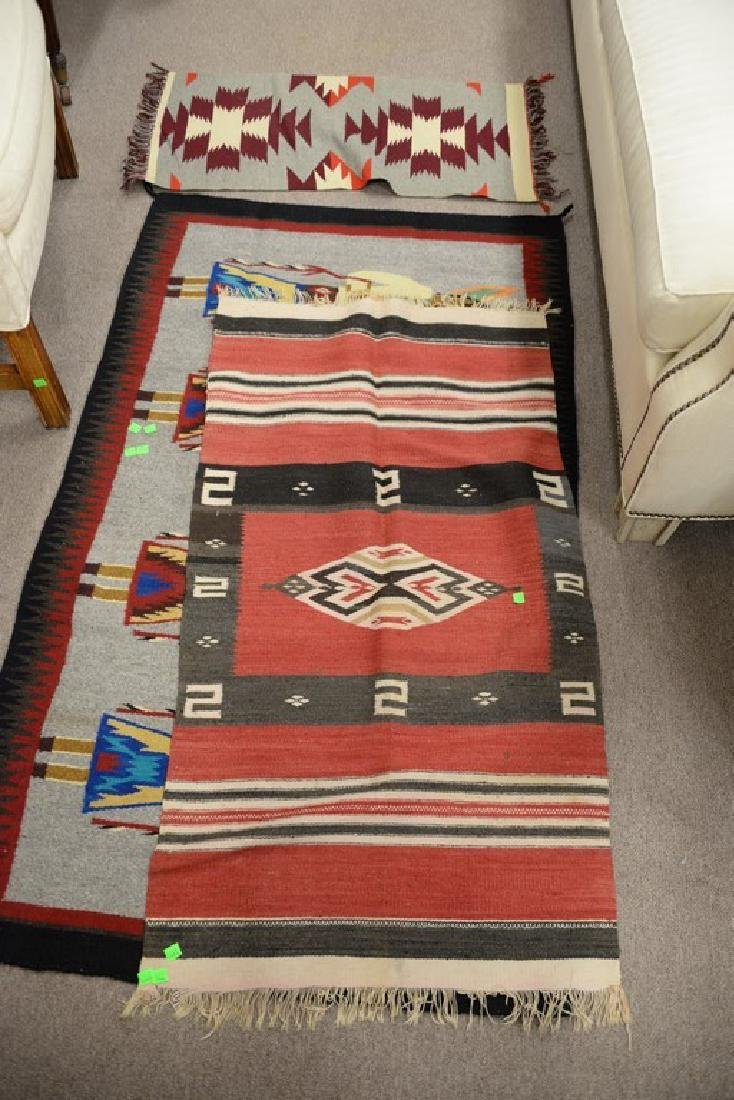"""Group of four American Indian blankets. 17 1/2"""" x 36"""" - 2"""