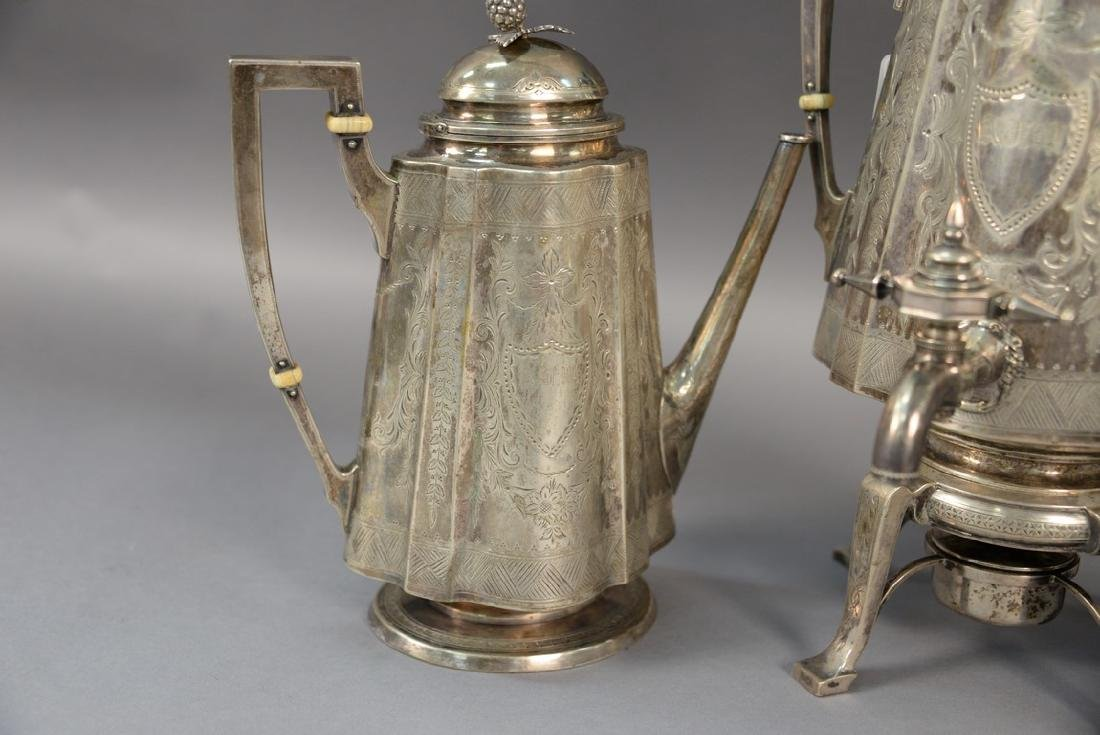 Three piece sterling silver Shreve Crump and Low tea - 2