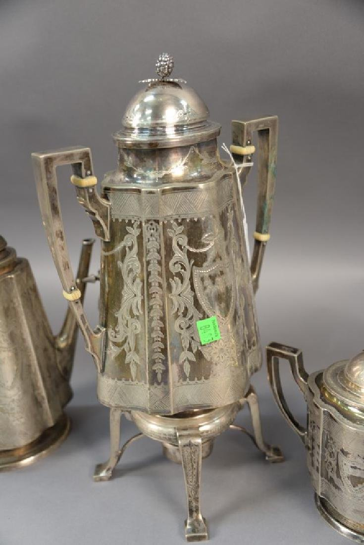 Three piece sterling silver Shreve Crump and Low tea - 4