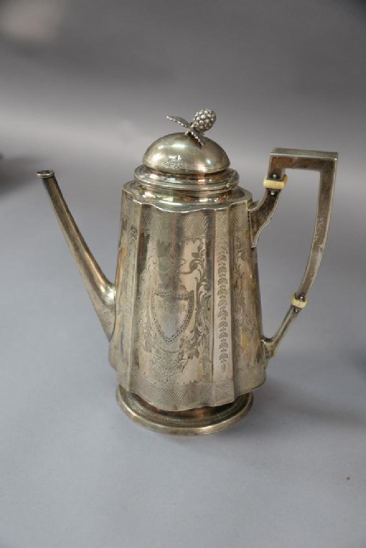 Three piece sterling silver Shreve Crump and Low tea - 5