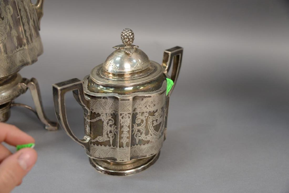 Three piece sterling silver Shreve Crump and Low tea - 6