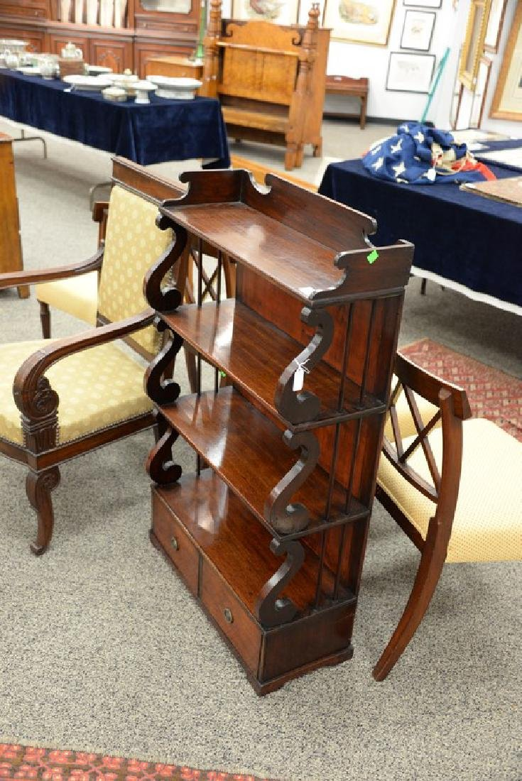 George III mahogany book stand with shelves over two - 3