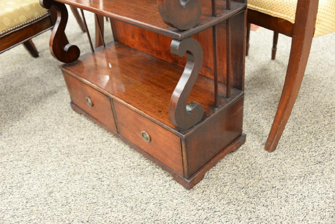 George III mahogany book stand with shelves over two - 4